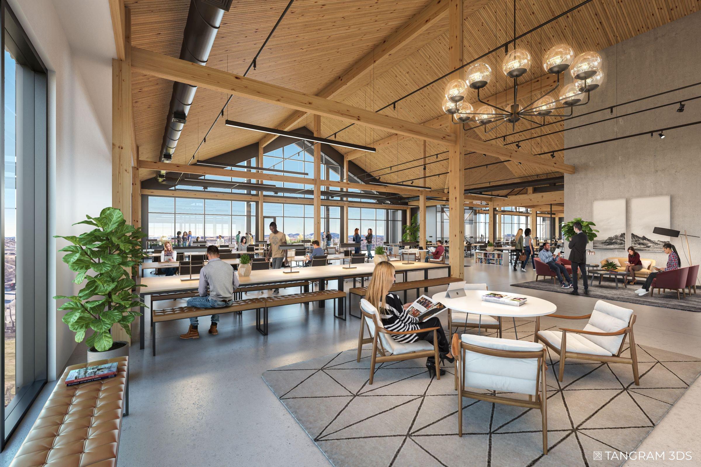 Interior Office Warehouse Nashvile Tangram 3DS
